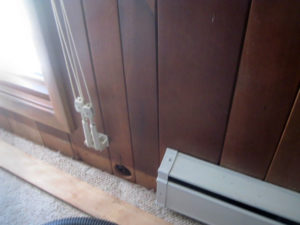 wall insulation via baseboard